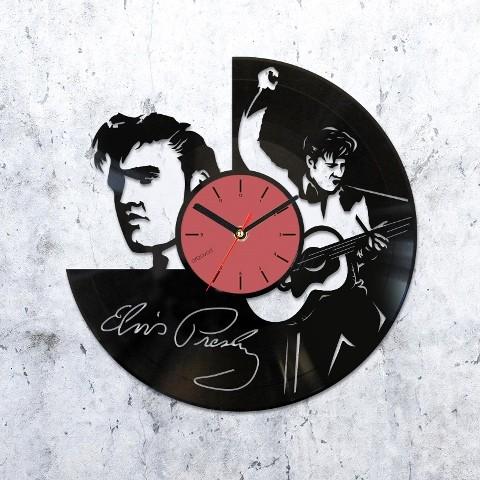 Vinyl clock Elvis Presley