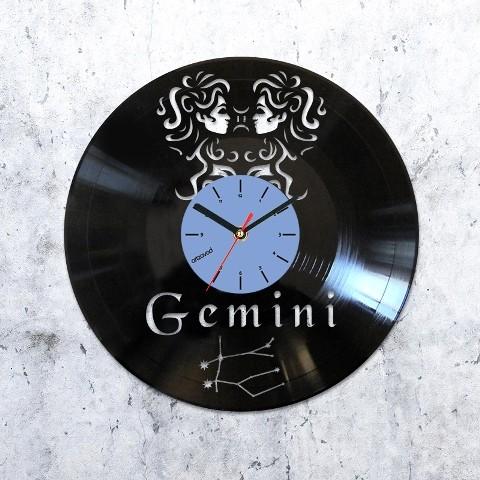 Vinyl clock Gemini