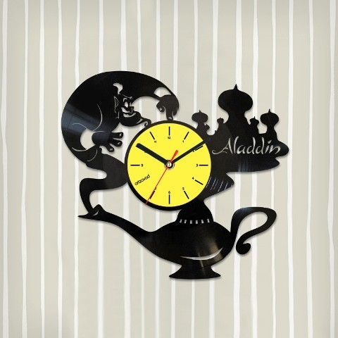 Виниловые часы Лампа Аладдина