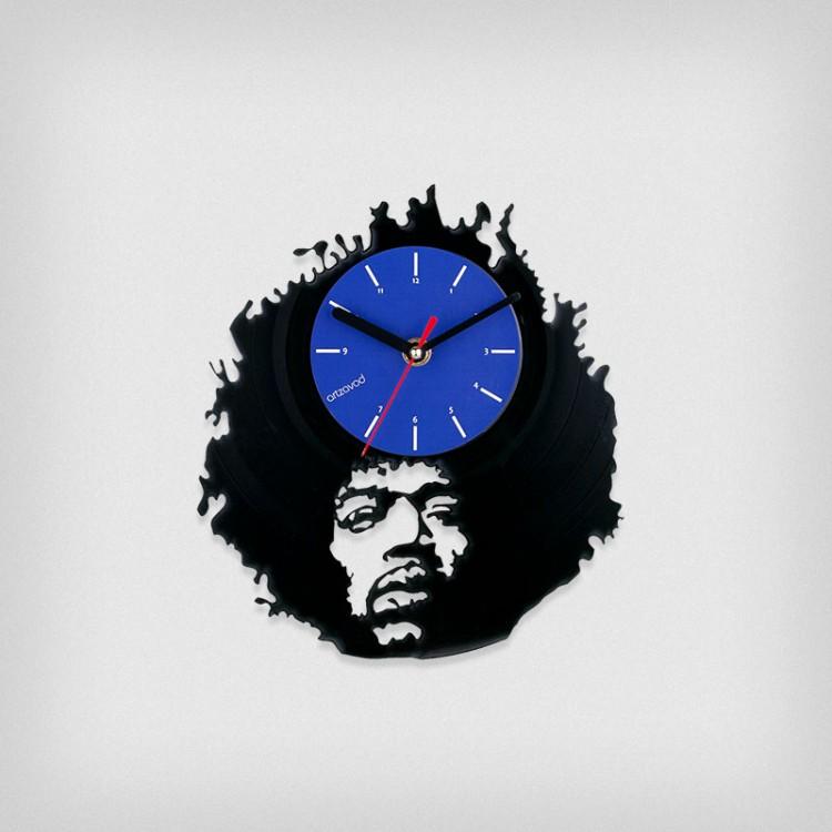 Vinyl clock Jimi Hendrix