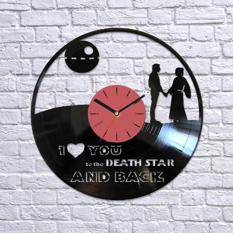 Виниловые часы Хан Соло и Лея