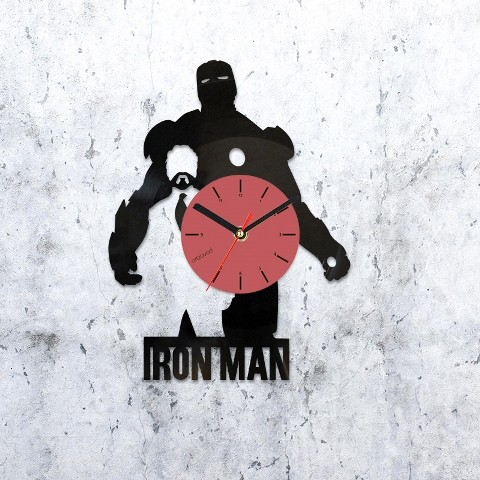 Vinyl clock Iron Man