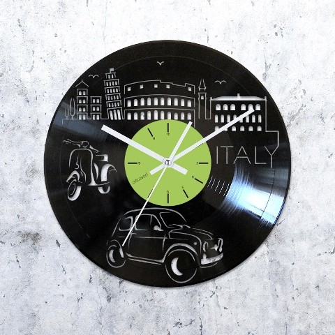 Виниловые часы Где-то в Италии