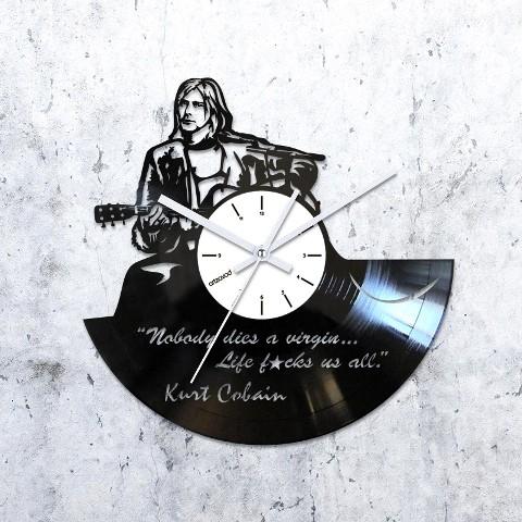 Виниловые часы Курт Кобейн