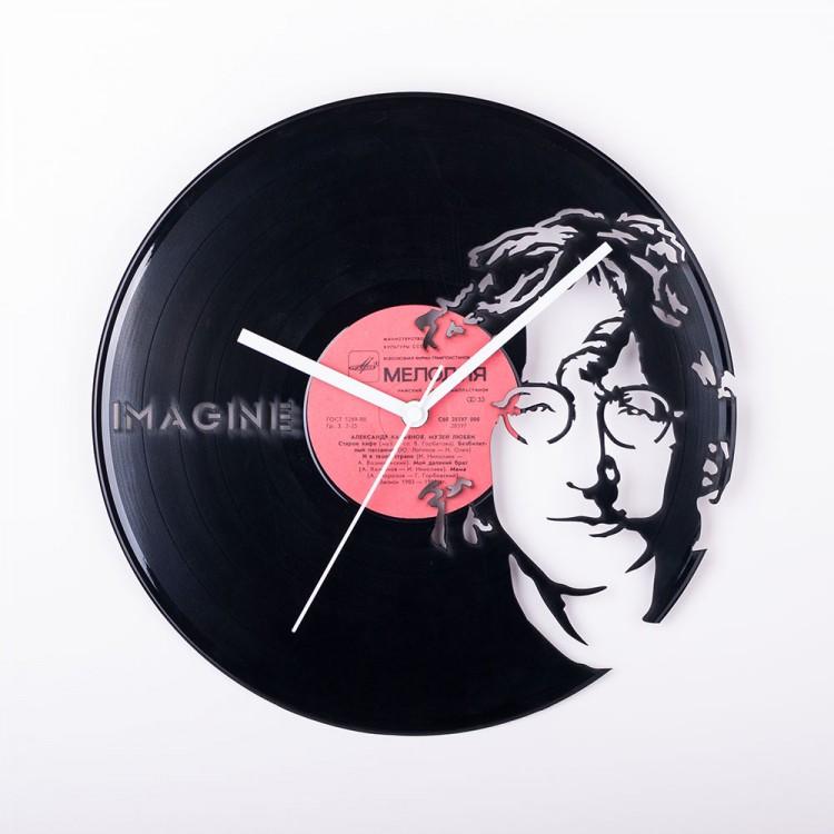 Vinyl clock John Lennon