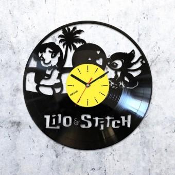 Виниловые часы Лило и Стич