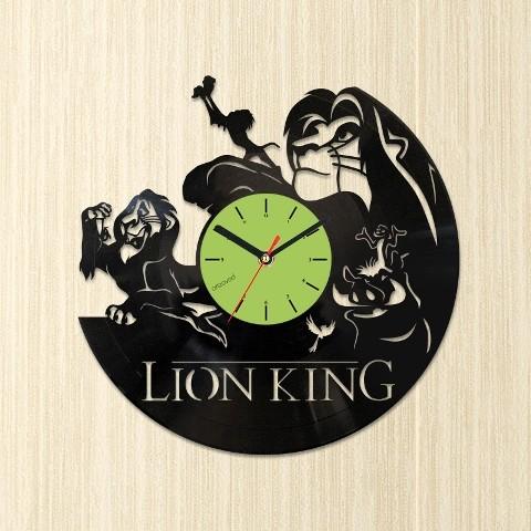 Виниловые часы Король Лев