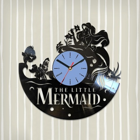 Vinyl clock The Little Mermaid