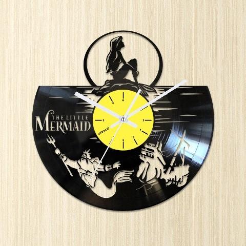 Виниловые часы Русалочка. Тритон