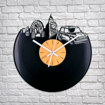 Виниловые часы Где-то в Лондоне