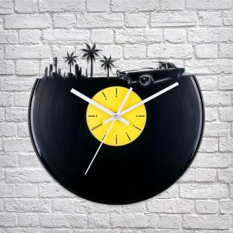 Виниловые часы Где-то в Майами
