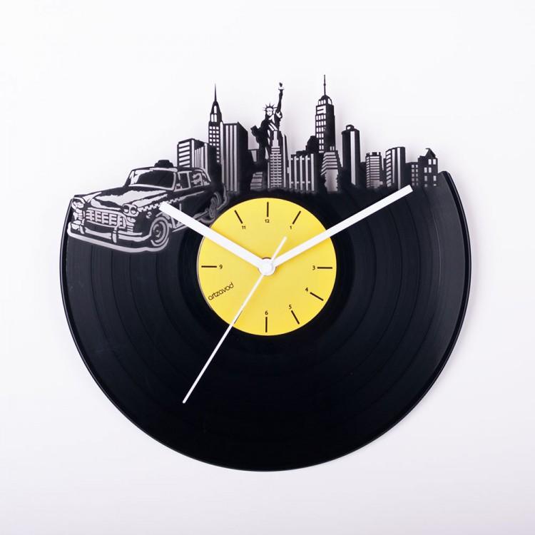 Виниловые часы Где-то в Нью-Йорке