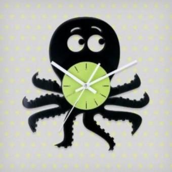 Виниловые часы Осьминожек