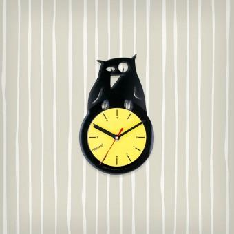 Виниловые часы Сова