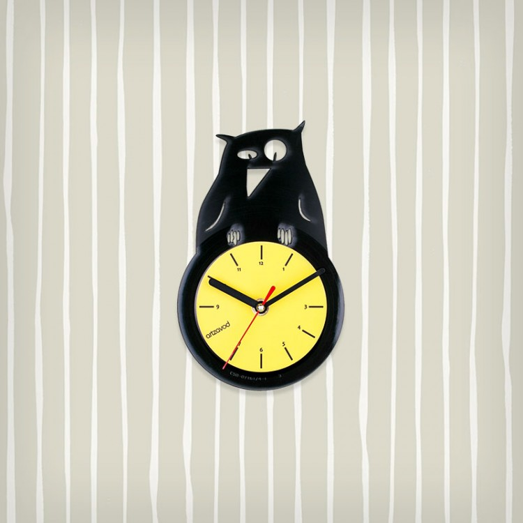 Vinyl clock Owl