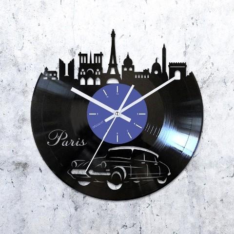 Виниловые часы Париж