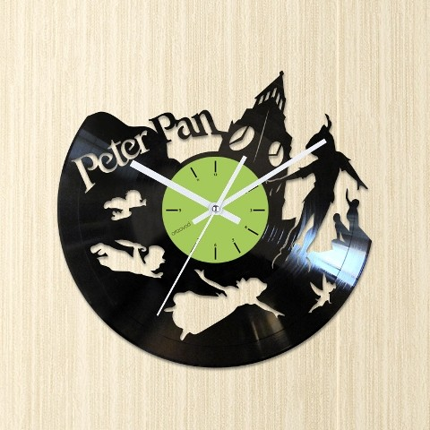 Vinyl clock Peter Pan. Big Ben