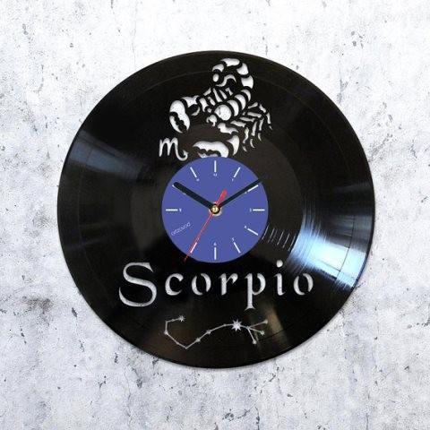 Vinyl clock Scorpio
