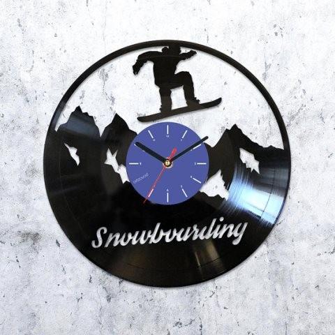 Виниловые часы Сноубординг