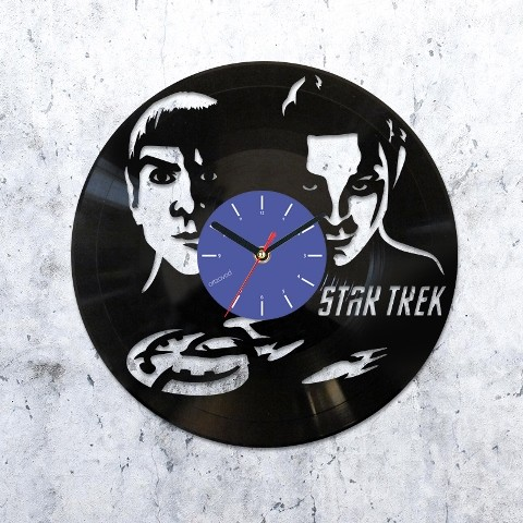 Виниловые часы Звездный путь