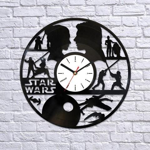 Виниловые часы Звездные войны. Силуэты