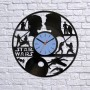 Vinyl clock Star Wars. Silhouettes