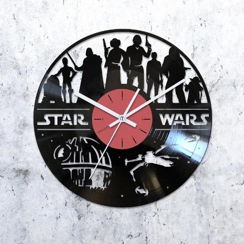 Виниловые часы Звездные войны. Персонажи
