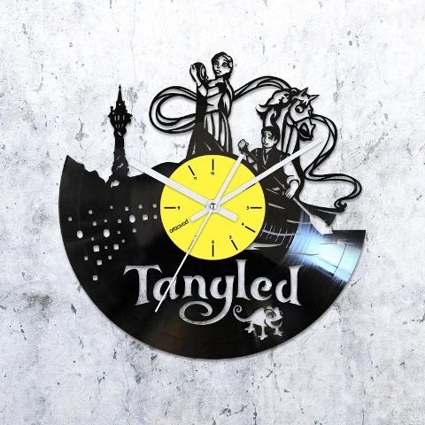 Vinyl clock Tangled