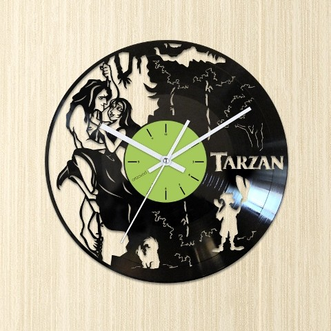 Виниловые часы Тарзан