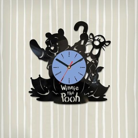 Виниловые часы Винни-Пух. Зонтик