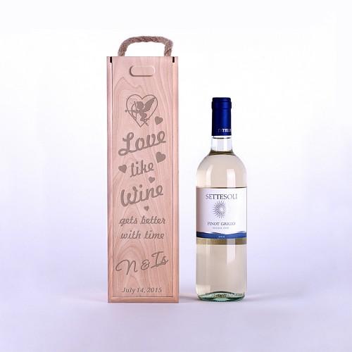 """Винная коробка """"Любовь как вино"""""""