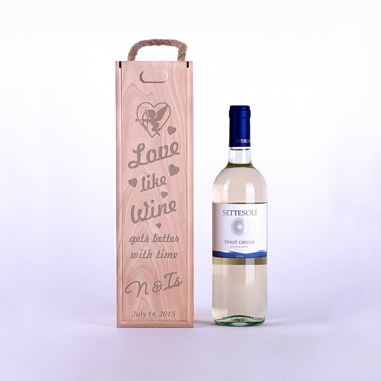 Коробка для вина Любовь как вино