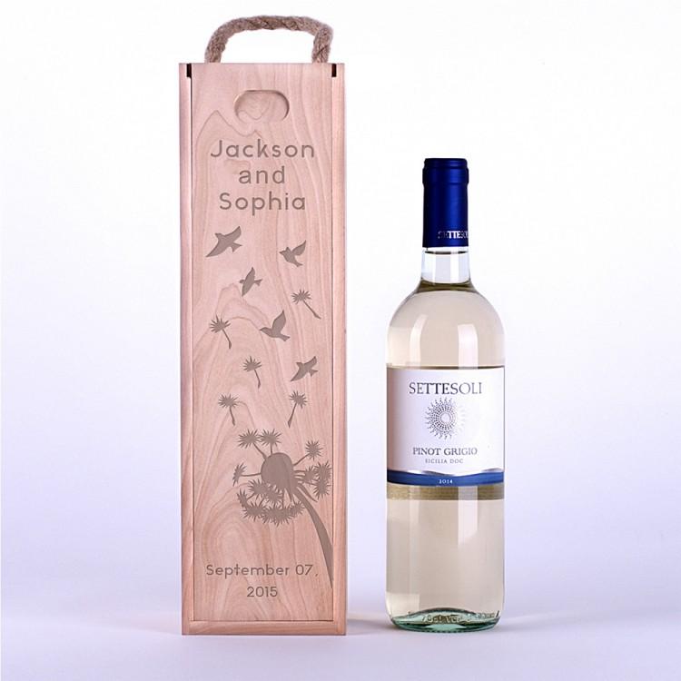 Коробка для вина Одуванчики