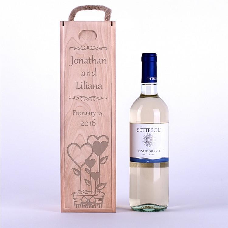 Коробка для вина Сердца