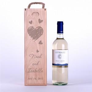"""Wine box """"Pencil hearts"""""""