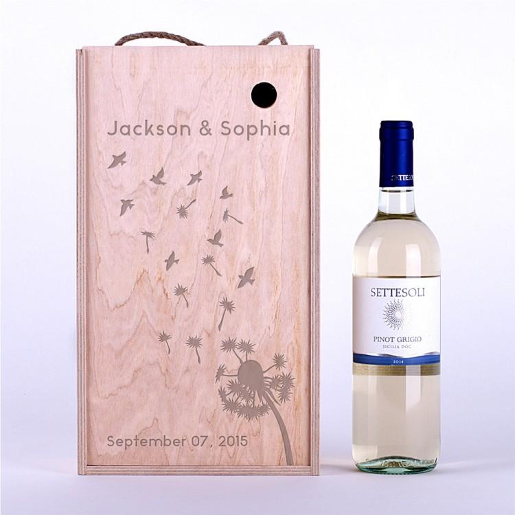 Коробка для вина Одуванчик большой