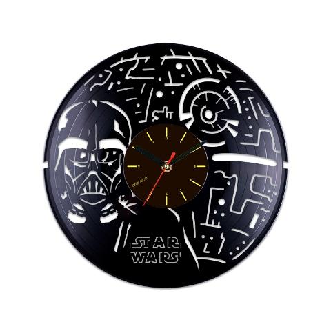 Vinyl Clock Death Star And Darth Vader