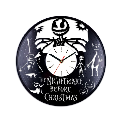 vinyl clock the nightmare before christmas jack