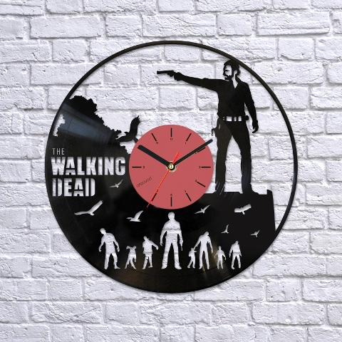 Vinyl Clock The Walking Dead